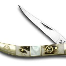 Frost Family 40Th Anniversary Deer Stag And Mother Of Pearl 1/600 Toothpick Pocket Knife Knives
