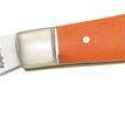 Rough Rider Knives 424 2 Blade Stockman Pocket Knife With Orange Smooth Bone Handles