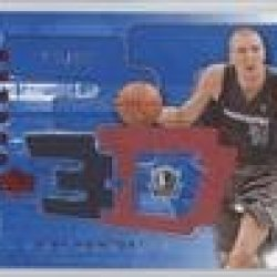 Dirk Nowitzki #288/499 Dallas Mavericks (Basketball Card) 2003-04 Upper Deck Triple Dimensions 3-D Memorabilia Shooting Shirt #3Ds41