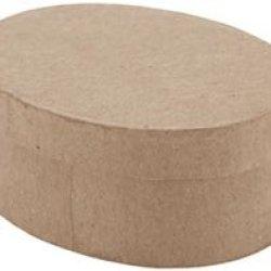 "Bulk Buy: Dcc Paper Mache Mini Oval Box 3 1/2""X2 1/2""X1 1/2"" 28-0023 (6-Pack)"