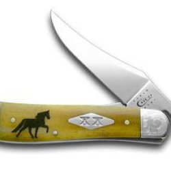Case Xx Antique Bone Tennessee Walking Horse Russlock 1/500 Pocket Knife Knives
