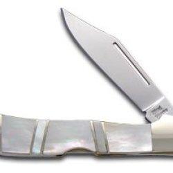Steel Warrior Genuine Mother Of Pearl Copperlock Stainless Pocket Knife Knives