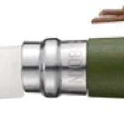 Opinel Trekking Khaki Folding Knife,3.25In,12C27 Mod Sandvik Stainless Blade,Kahaki Dyed Wood 1703