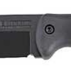 Kabar Becker Companion Fixed Blade Knife 1095 Cro-Van/Black Plain Drop Point Nylon Sheath 5.25 Black Grivory Box Bk2