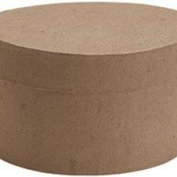 "Bulk Buy: Dcc Paper Mache Small Round Box 4""X4""X2 1/8"" 28-4072 (6-Pack)"