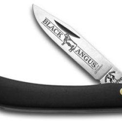German Kissing Crane Large Black Angus Sodbuster Pocket Knife Knives