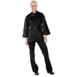 "Orlando Unisex Black Chefs Tunic Polycotton. Color: Black. Size: L (To Fit Chest 44-46"")."