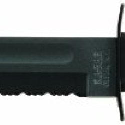 Ka-Bar  Fighting/Utility Serrated Edge Knife With Hard Sheath, Black
