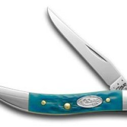 Case Xx Jigged Pacific Blue Bone Toothpick Pocket Knife Knives