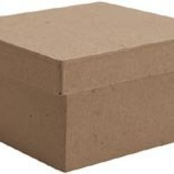 "Bulk Buy: Dcc Paper Mache Small Square Box 4""X4""X2 1/8"" 28-4075 (6-Pack)"