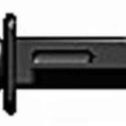 Brickarms 2.5 Scale Loose Weapon Combat Knife Black