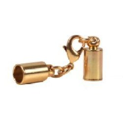 """4.3Mm (5/32"""") Gold Glu-N-Go End Caps, Jewelry Findings-Clasps"""