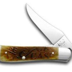 Case Xx Embellished Sawcut Antique Bone Russlock Pocket Knife Knives