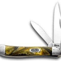 Case Xx Engraved Bolster Series Genuine Butter Rum Corelon Peanut Pocket Knife