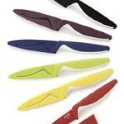 Kuhn Rikon Colori Nonstick Paring Knife, Red