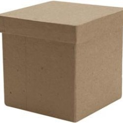 "Bulk Buy: Dcc Paper Mache Tall Square Box 3""X3""X3"" 28-4192 (6-Pack)"