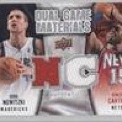Vince Carter, Dirk Nowitzki New Jersey Nets, Dallas Mavericks (Basketball Card) 2009-10 Upper Deck Dual Game Materials #Dg-Cn