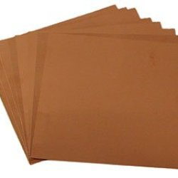 "3"" X 3"" Square 40 Gauge Copper Sheets - 8 Pack"