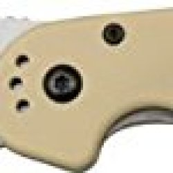 Ontario Knives 8848Dt Satin Finish Rat-1 Linerlock Knife With Desert Tan Handles