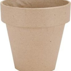 "Bulk Buy: Dcc Paper Mache Flower Pot 5"" 28-4090 (6-Pack)"