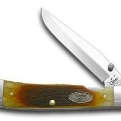 Case Xx Sawcut Antique Bone Trapperlock Pocket Knife Knives