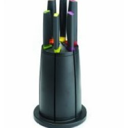 Joseph Joseph Elevate Knives Carousel Set With Rotating Knife Block, 6-Piece