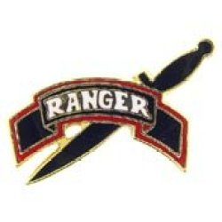 Metal Lapel Pin - Us Army Pin & Emblem - Us Army Ranger Tab & Knife
