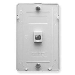 Wall Plate Idc 6P6C - White Wall Plate Idc 6P6C - White