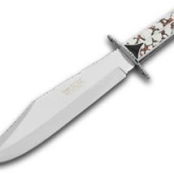Hen & Rooster And Painted Pony 1/200 Jasper & Jet Onyx Bowie Pocket Knife Knives