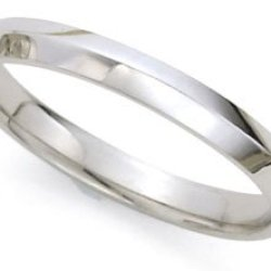 High-Polished Knife Edge Wedding Band In 14K White Gold (3Mm)