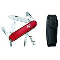 Victorinox Swiss Army 91Mm/3.58In Spartan Pocket Knife With Pouch, Red