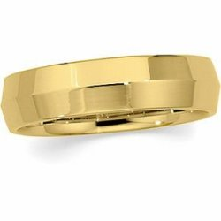 Jewelplus Knife Edge Comfort Fit Wedding Band - Size 7, 2.5 Mm And 6.0Mm 14K White 02.50 Mm