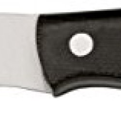 Bark River Mini Canadian Fixed Blade Knife,2.75In,A-2 Tool Steel Blade,Black Canvas 03-133Mbc