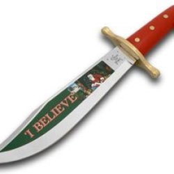 Case Xx Christmas I Believe Red Synthetic Fixed Blade Bowie Knife Knives
