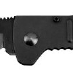 Sog Specialty Knives & Tools Sj32-Cp Slimjim Knife With Straight Edge Assisted Folding 3.18-Inch Steel Blade And Bead Blasted Handle, Black Finish