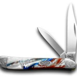 Case Xx Engraved Bolster Series Genuine Star Spangled Peanut Pocket Knives