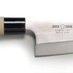 Joyce Chen 50-0759, 6-Inch Heavy Duty Deba Knife With Ho Wood Handle