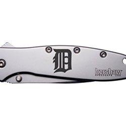 Detroit D Engraved Kershaw Leek 1660 Ken Onion Design Folding Speedsafe Pocket Knife By Ndz Performance