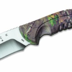 Buck Knives 390 Omni Hunter Fixed Blade Knife With Realtree Xtra Green Camo Handle