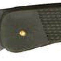 Puma Knives 77301020 Part Serrated Black Titanium Tec Medium Lightweight Lockback Knife With Checkered Olive Drab Composition Handles