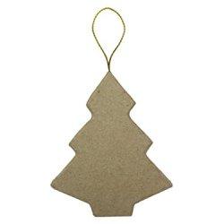 Paper Mache Flat Tree Ornament By Craft Pedlars