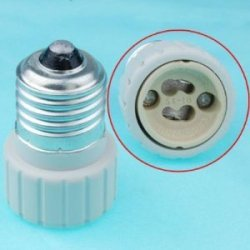 Jackyled Buy 4 Pcs 1 Pcs Off E26 E27, Edison Screw To Gu10 Bayonet Base Adapter Lamp Socket, E27 To Gu10 5 Pcs Ul Listed 2 Years Warranty 800W