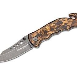 Magnum 01Lg288 Bronze Rescue Pocket Knife, Brown