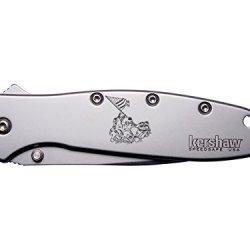 Us Wwii Flag Raise Iwo Jima Engraved Kershaw Leek 1660 Ken Onion Design Folding Speedsafe Pocket Knife By Ndz Performance