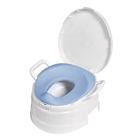 PRIMO's 4 In 1 Soft Seat Toilet Trainer/Step Stool is a complete graduated 4 stage toilet training system. It follows your child through all of the stages of toilet training  1) beginning as a stand alone potty with an extra large easy to clean pot 2...