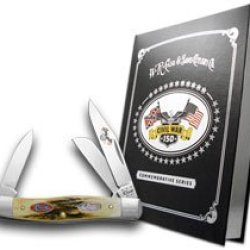 Case Xx Civil War Book Set Volume 9 Battle Of Chickamauga Deer Stag Stockman Pocket Knife Knives
