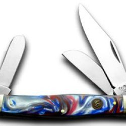 Hen & Rooster And Star Spangled Stockman Pocket Knife Knives
