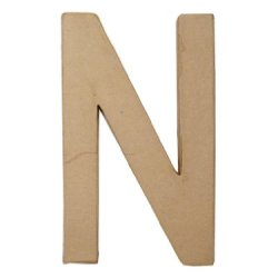Paper Mache Letter N By Craft Pedlars 8 In.