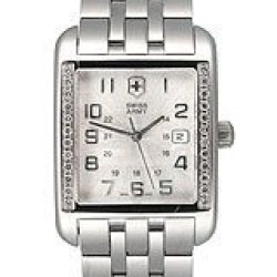 Men'S Diamond Alliance By Swiss Army - Silver Dial - Stainless Steel