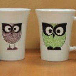 Owl Hoots Coffee Cup Mug Set Of 4 - 16 Ounce Per Cup 32018